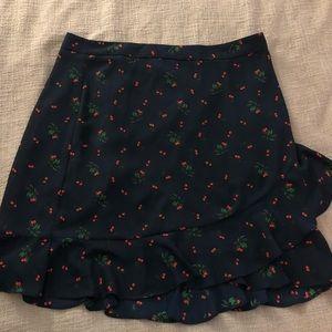 NWT Banana Republic navy & red cherry skirt 🍒